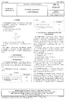 Produkty organiczne o-Anizydyna BN-74/6026-10