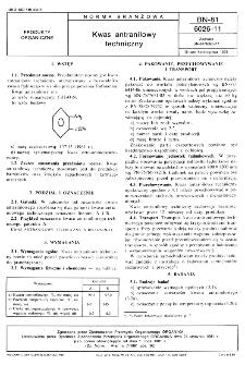 Kwas antranilowy techniczny BN-81/6026-11