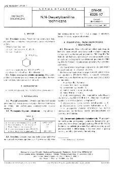 N,N-Dwuetyloanilina techniczna BN-86/6026-17