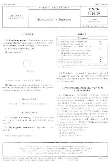 Acetanilid techniczny BN-76/6026-19