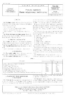 Produkty organiczne - Kwas adypinowy techniczny BN-90/6026-22