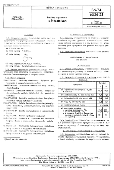Produkty organiczne o-Nitrotoluen BN-74/6026-23
