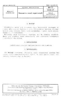 Mieszanina zasad organicznych BN-75/6026-24