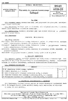 Półprodukty dla przemysłu kosmetycznego - Sulfsipol BN-65/6026-25