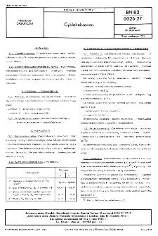 Cykloheksanon BN-82/6026-27