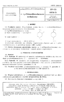 o- i p-Nitrochlorobenzen techniczny BN-75/6026-31
