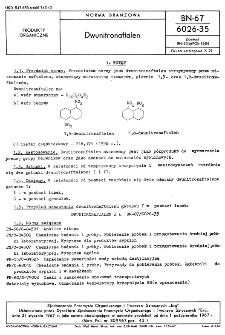 Dwunitronaftalen BN-67/6026-35