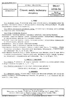 Chlorek metylu techniczny skroplony BN-67/6026-36