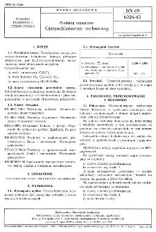 Produkty organiczne - Czterochloroetan techniczny BN-69/6026-43