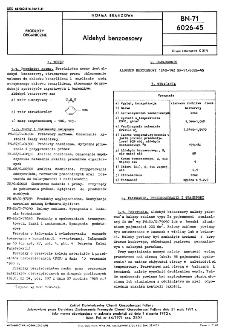 Aldehyd benzoesowy BN-71/6026-45