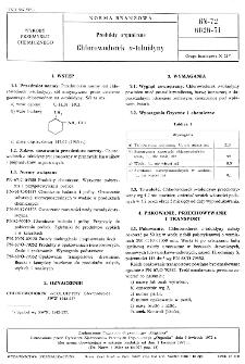 Produkty organiczne - Chlorowodorek o-toluidyny BN-72/6026-51