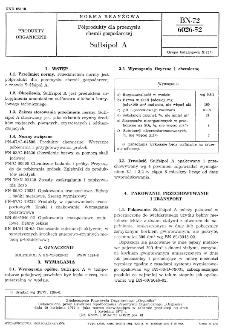 Półprodukty dla przemysłu chemii gospodarczej Sulfsipol A BN-72/6026-52