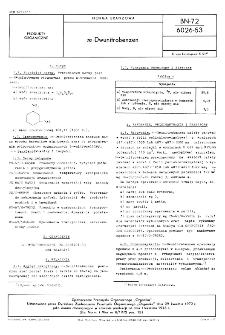 m-Dwunitrobenzen BN-72/6026-53