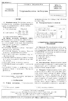 Trójetanoloamina techniczna BN-72/6026-54