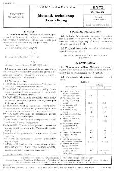 Mocznik techniczny krystaliczny BN-72/6026-55