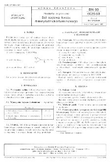 Produkty organiczne - Sól sodowa kwasu dimetyloditiokarbaminowego BN-89/6026-59