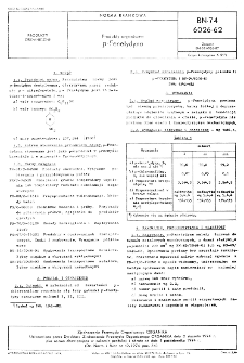 Produkty organiczne p-Fenetydyna BN-74/6026-62