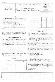 Produkty organiczne - Kwas szczawiowy techniczny BN-86/6026-63