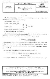 Chlorowodorek aniliny techniczny BN-75/6026-68