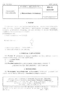 p-Nitrotoluen techniczny BN-75/6026-69