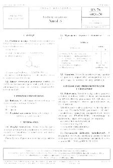 Produkty organiczne Nitrol S BN-76/6026-70