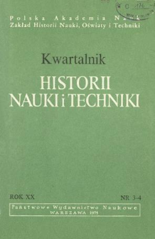 Kwartalnik Historii Nauki i Techniki R. 20 nr 3-4/1975