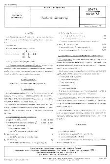 Furfural techniczny BN-77/6026-73