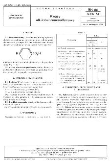 Kwasy alkilobenzenosulfonowe BN-86/6026-74