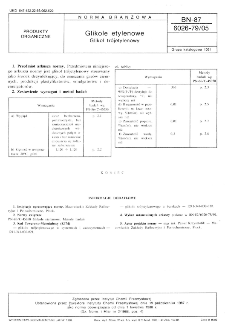 Glikole etylenowe - Glikol trójetylenowy BN-87/6026-79/05