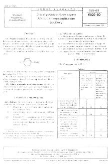 Środki powierzchniowo czynne - Alkilobenzenosulfonian sodowy BN-87/6026-80