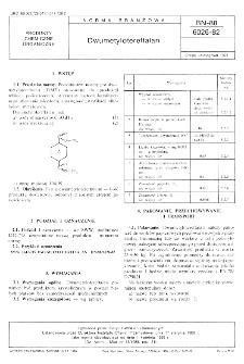 Dwumetylotereftalan BN-88/6026-82