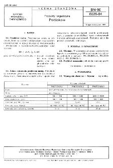 Produkty organiczne - Poltiokole BN-90/6026-84