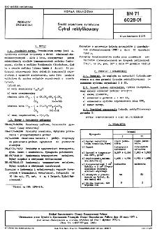 Środki zapachowe syntetyczne - Cytral rektyfikowany BN-71/6028-01