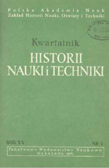 Kwartalnik Historii Nauki i Techniki R. 20 nr 2/1975