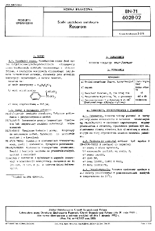 Środki zapachowe syntetyczne Rosarom BN-71/6028-02