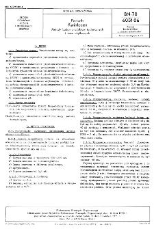 Pestycydy - Kwintocen - Metody badań produktów technicznych i form użytkowych BN-70/6051-06