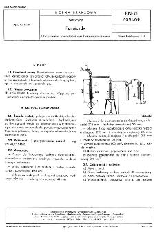 Pestycydy - Fungicydy - Oznaczanie zawartości dwutiokarbaminianów BN-71/6051-09