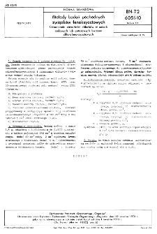 Metody badań pochodnych związków fenoksyoctowych - Oznaczanie zawartości chlorków w solach sodowych lub potasowych kwasów chlorofenoksyoctowych BN-72/6051-10 Arkusz 04