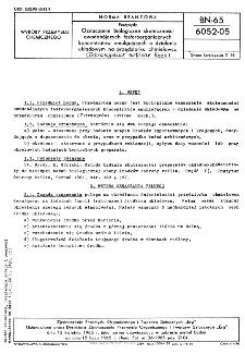 Pestycydy - Oznaczanie biologiczne skuteczności owadobójczych fosforoorganicznych koncentratów emulgujących o działaniu układowym na przędziorku chmielowcu (Tetranychus urticae Koch.) BN-65/6052-05
