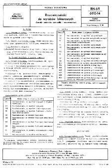 Rozcieńczalniki do wyrobów lakierowych - Zasady podziału, symboliki i nazewnictwa BN-69/6110-14