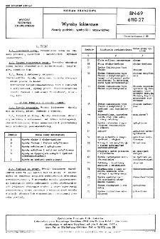 Wyroby lakierowe - Zasady podziału, symboliki i nazewnictwa BN-69/6110-27