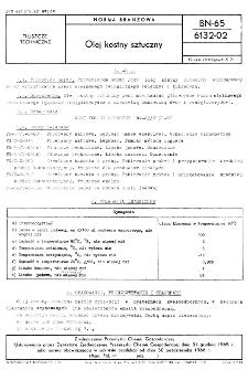 Olej kostny sztuczny BN-65/6132-02