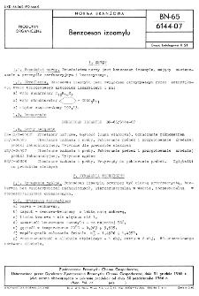 Benzoesan izoamylu BN-65/6144-07