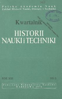 Kwartalnik Historii Nauki i Techniki R. 21 nr 3/1976