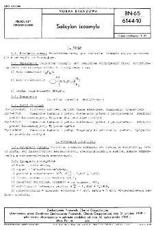 Salicylan izoamylu BN-65/6144-10