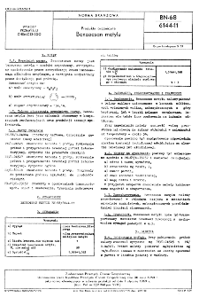 Produkty organiczne - Benzoesan metylu BN-68/6144-11