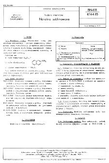 Produkty organiczne - Nerolina sublimanowana BN-68/6144-15