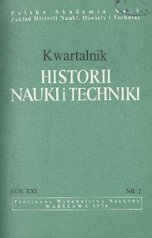 Kwartalnik Historii Nauki i Techniki R. 21 nr 2/1976