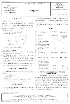 Terpineol BN-70/6144-21