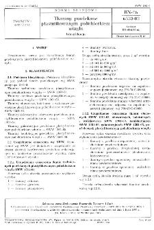Tkaniny powlekane plastyfikowanym polichlorkiem winylu - Klasyfikacja BN-76/6350-02